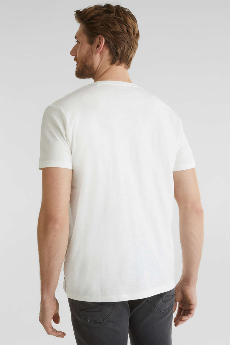 Jersey top with a print,100% organic cotton, OFF WHITE, detail image number 2