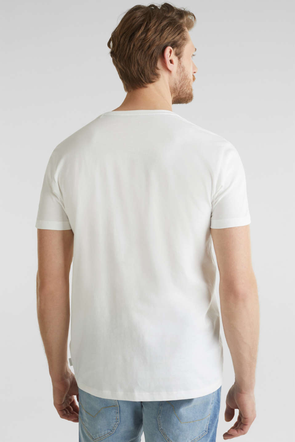 Jersey cotton top, OFF WHITE, detail image number 3