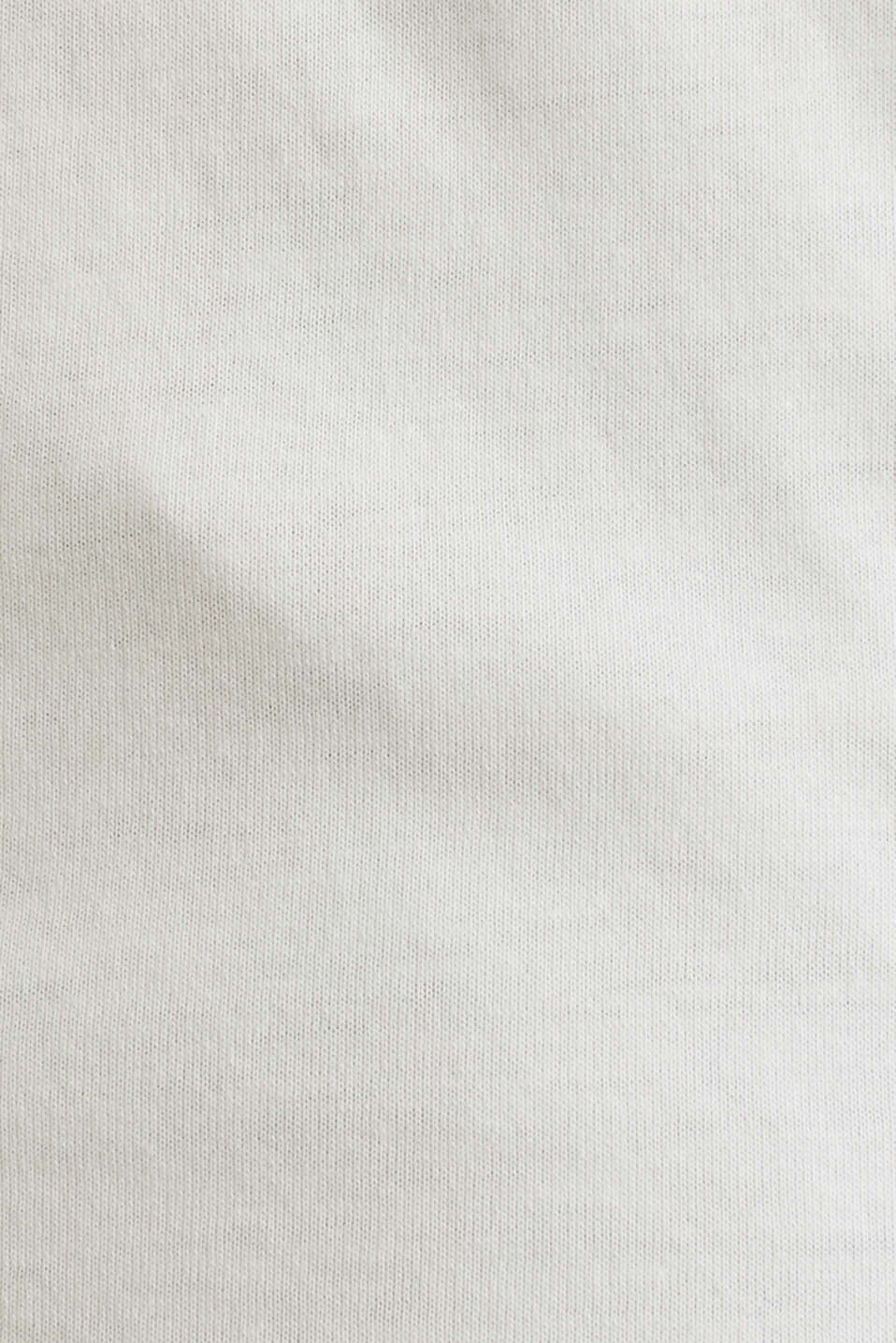 Jersey cotton top, OFF WHITE, detail image number 5