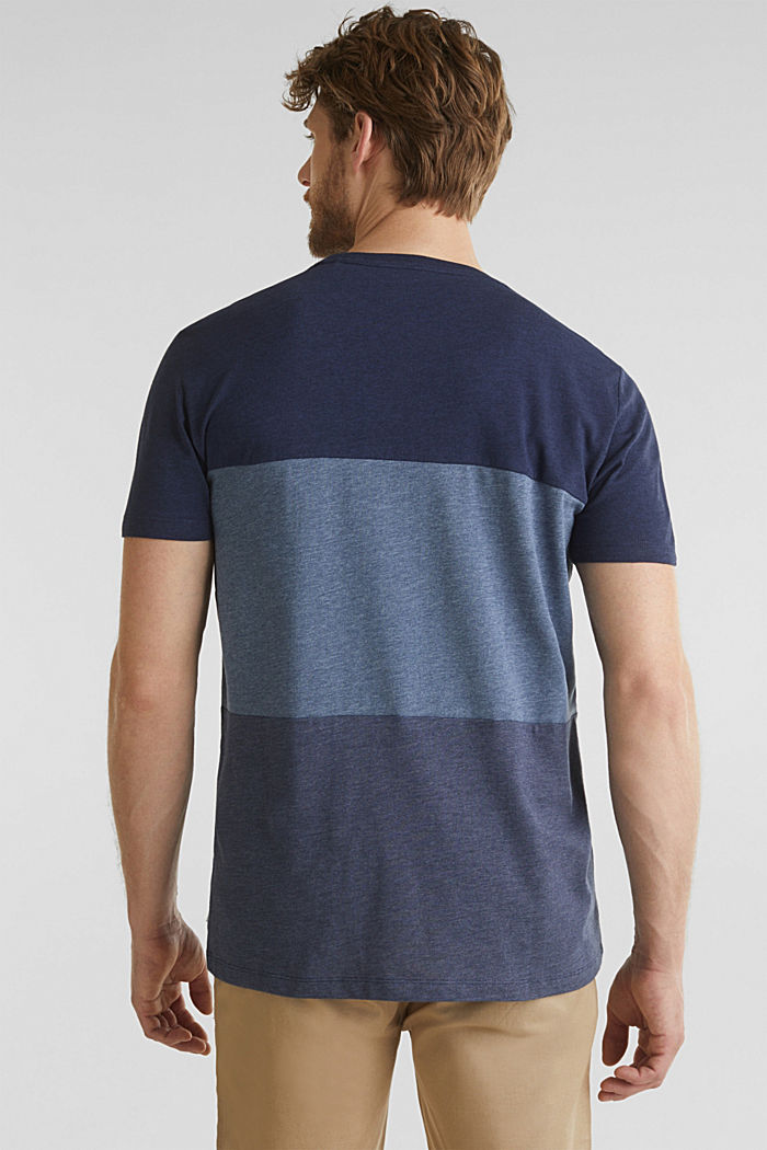 Jersey-Shirt im Color-Block-Style, NAVY, detail image number 3