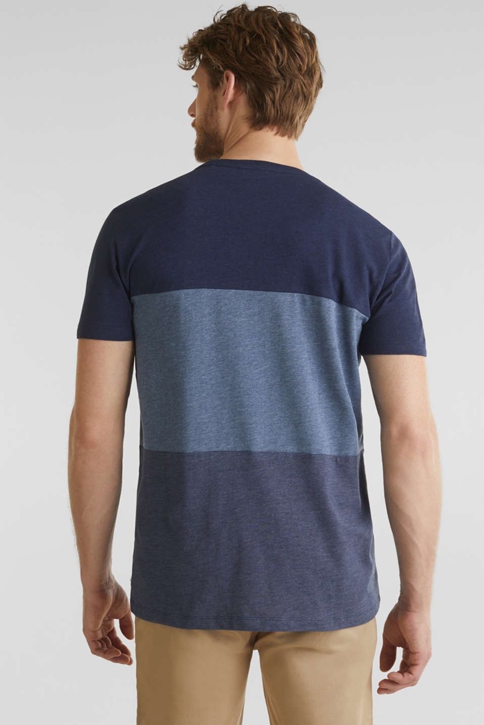 Jersey top in a colour block style, NAVY 3, detail image number 3
