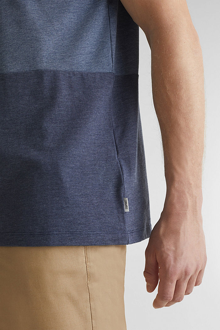 Jersey top in a colour block style, NAVY, detail image number 1