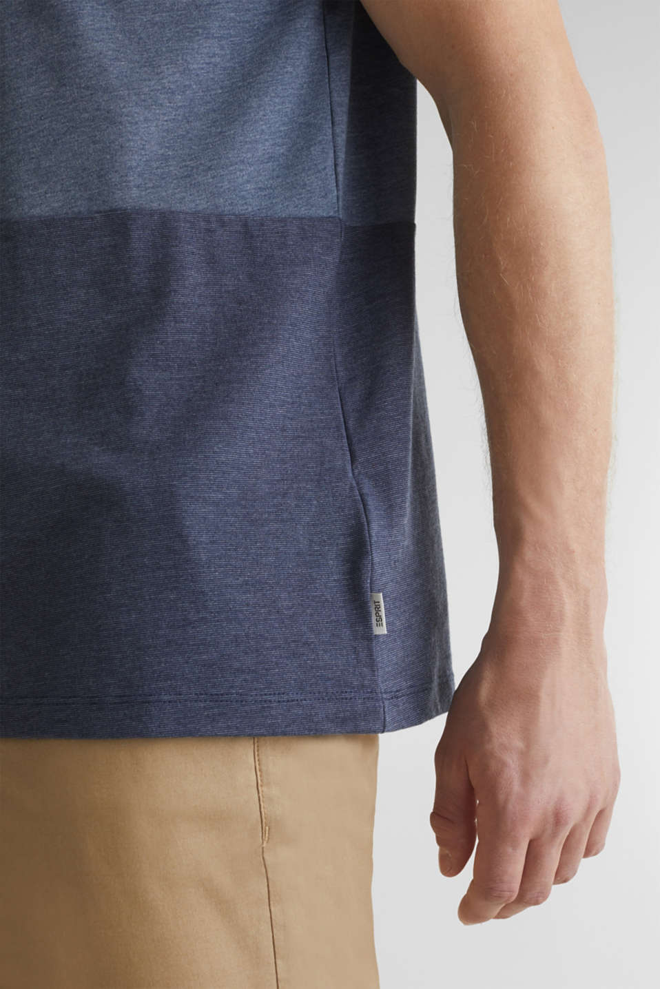 Jersey top in a colour block style, NAVY 3, detail image number 1