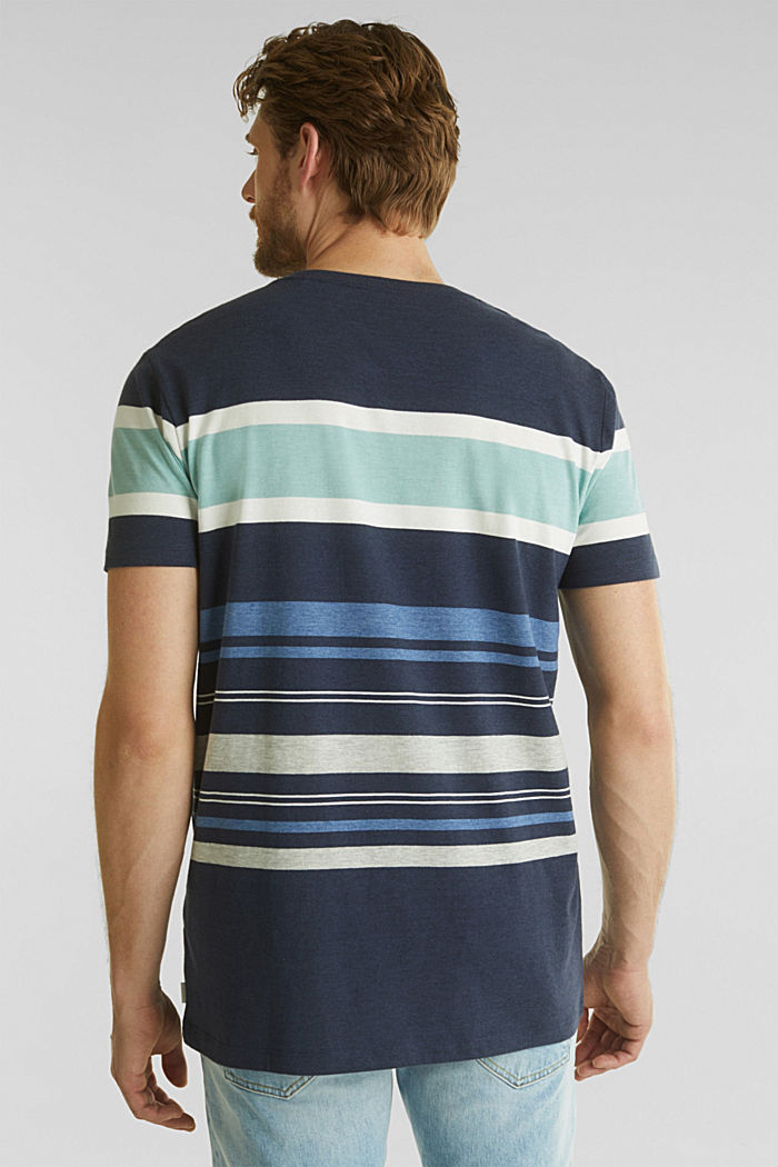 Jersey top with mixed stripes, NAVY, detail image number 3