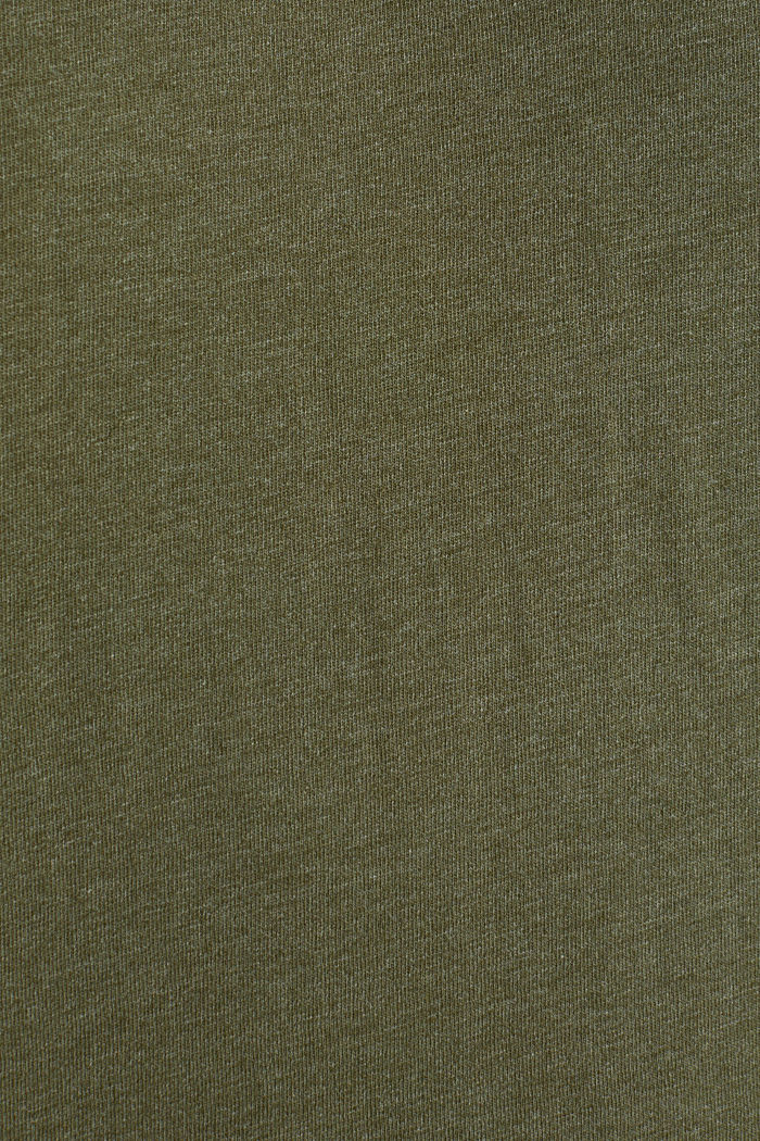 Jersey top in a colour block style, DARK KHAKI, detail image number 3