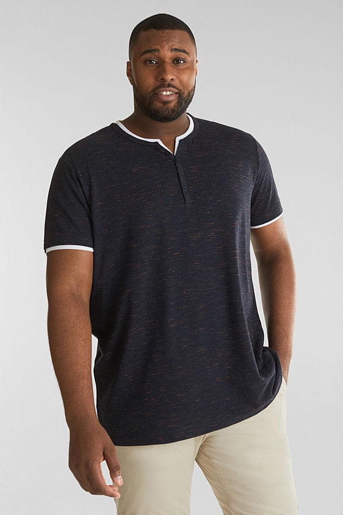 Piqué-Shirt mit Organic Cotton, NAVY, detail image number 0