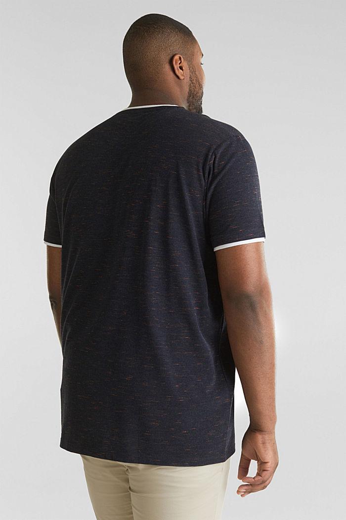 Piqué-Shirt mit Organic Cotton, NAVY, detail image number 3