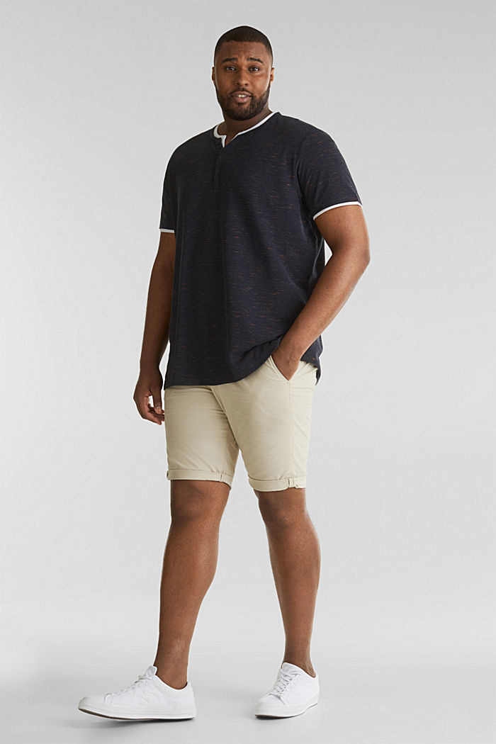 Piqué-Shirt mit Organic Cotton, NAVY, detail image number 2