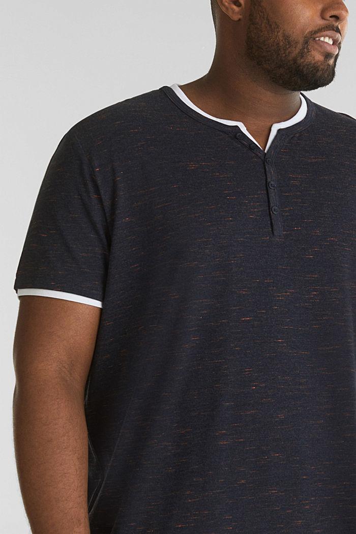 Piqué-Shirt mit Organic Cotton, NAVY, detail image number 1
