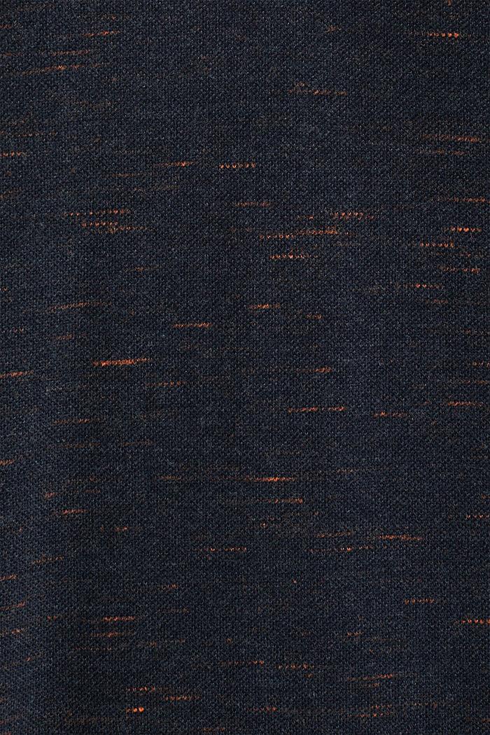 Piqué-Shirt mit Organic Cotton, NAVY, detail image number 4