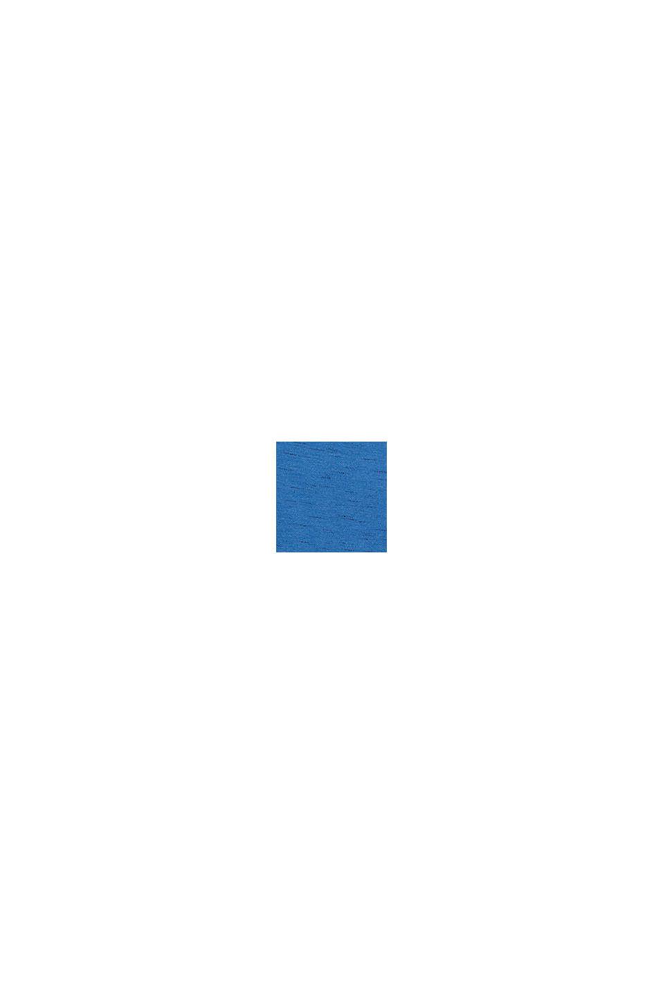 Piqué top made of organic cotton, BLUE, swatch