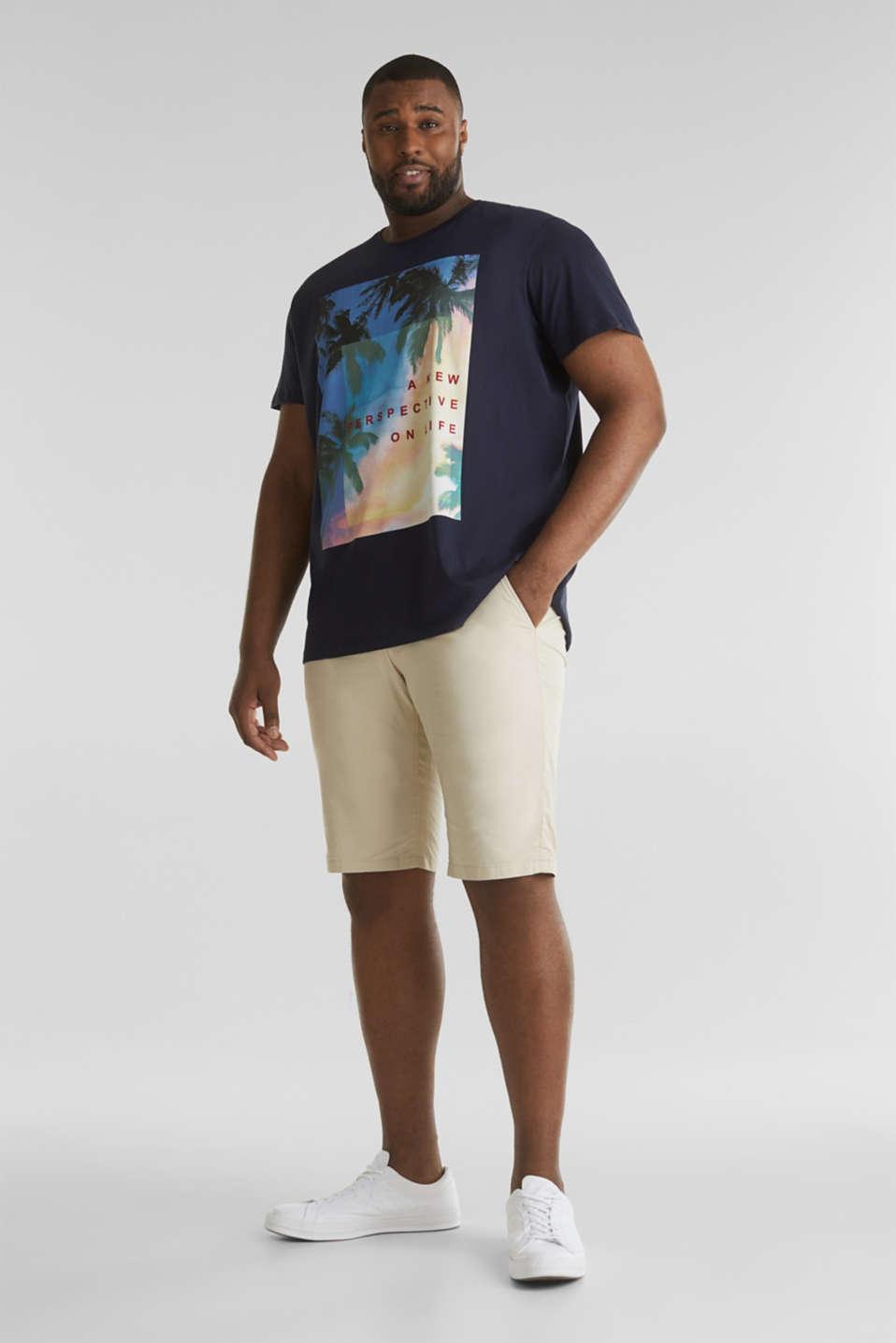 Printed T-shirt in 100% organic cotton, NAVY, detail image number 1