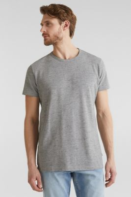 Melange piqué T-shirt, MEDIUM GREY 5, detail