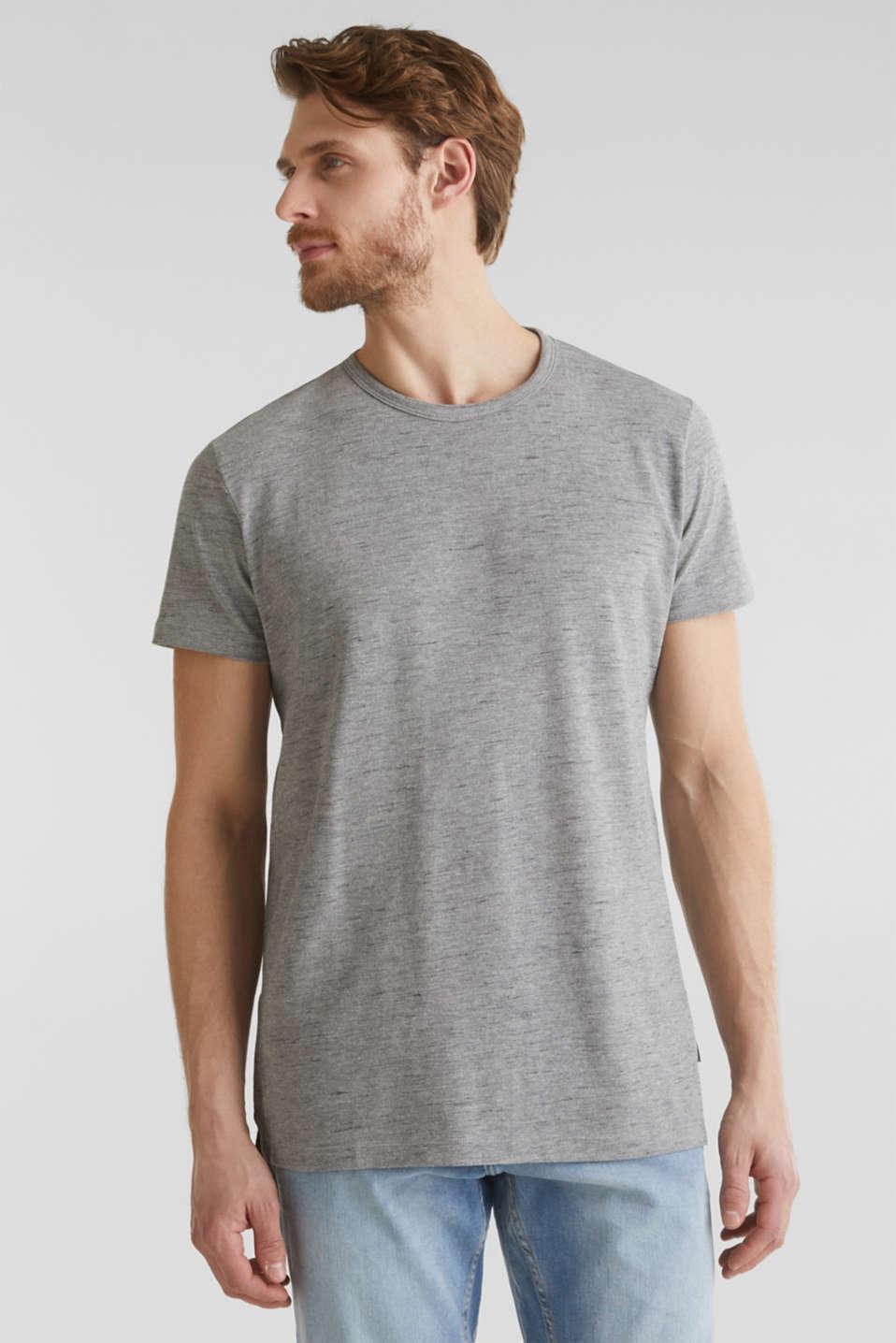 Melange piqué T-shirt, MEDIUM GREY 5, detail image number 0