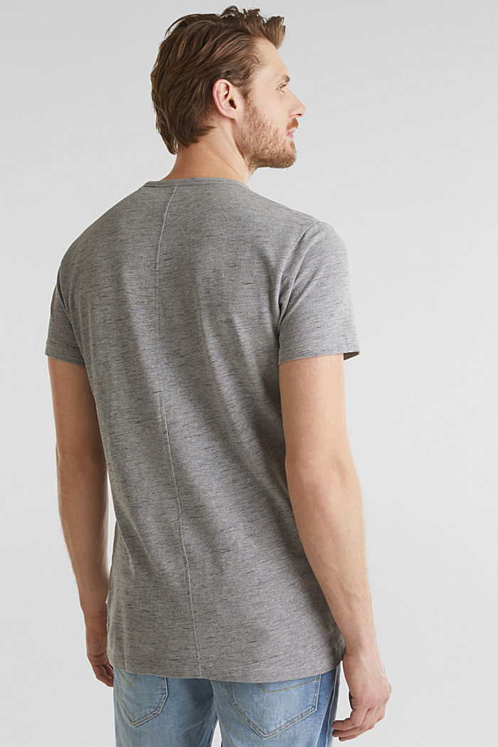 Melange piqué T-shirt, MEDIUM GREY, detail image number 1