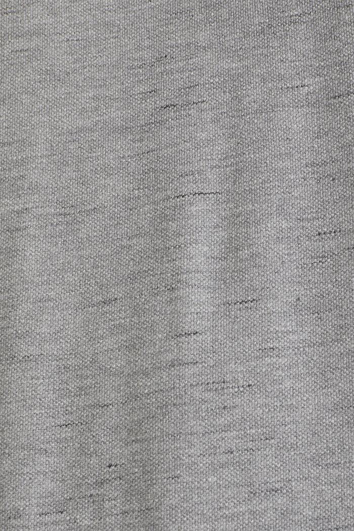 Melange piqué T-shirt, MEDIUM GREY, detail image number 2