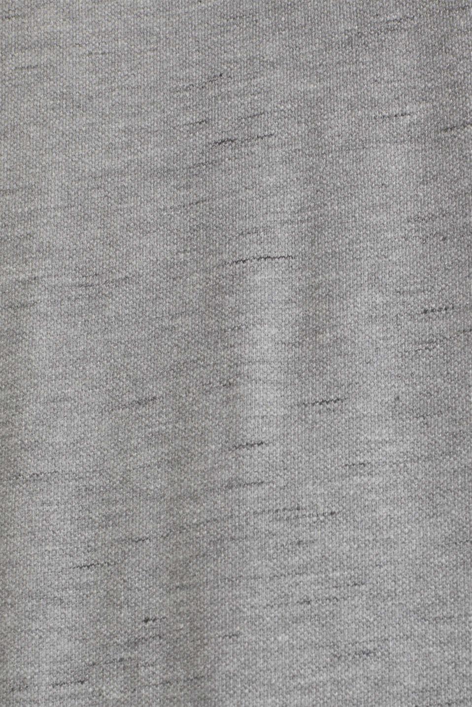 Melange piqué T-shirt, MEDIUM GREY 5, detail image number 2
