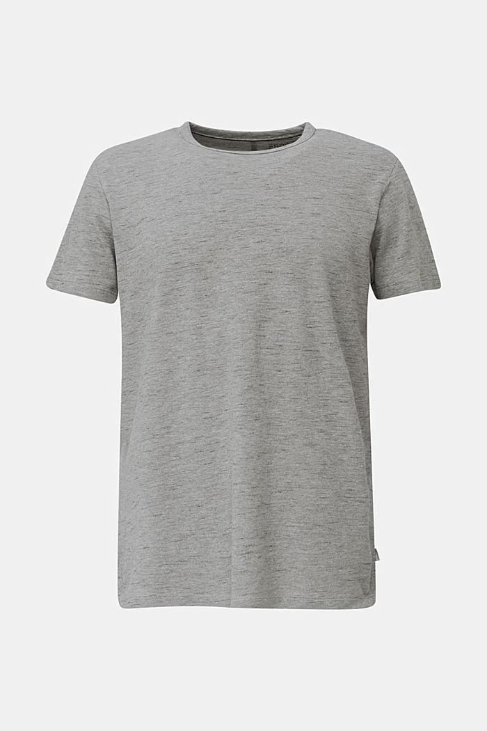 Piqué shirt met een gemêleerde look