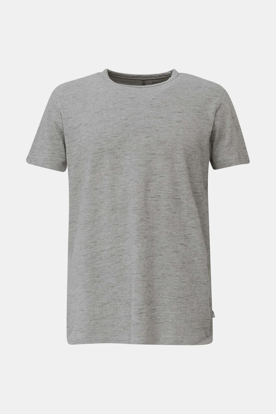 Melange piqué T-shirt, MEDIUM GREY 5, detail image number 4