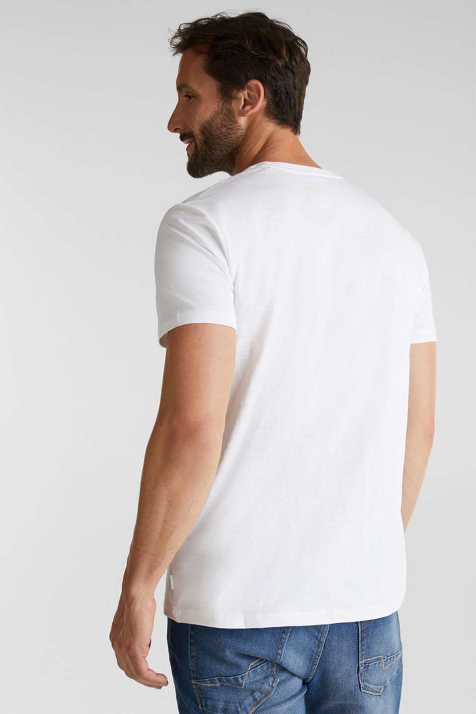 Jersey top, 100% organic cotton, WHITE, detail image number 3