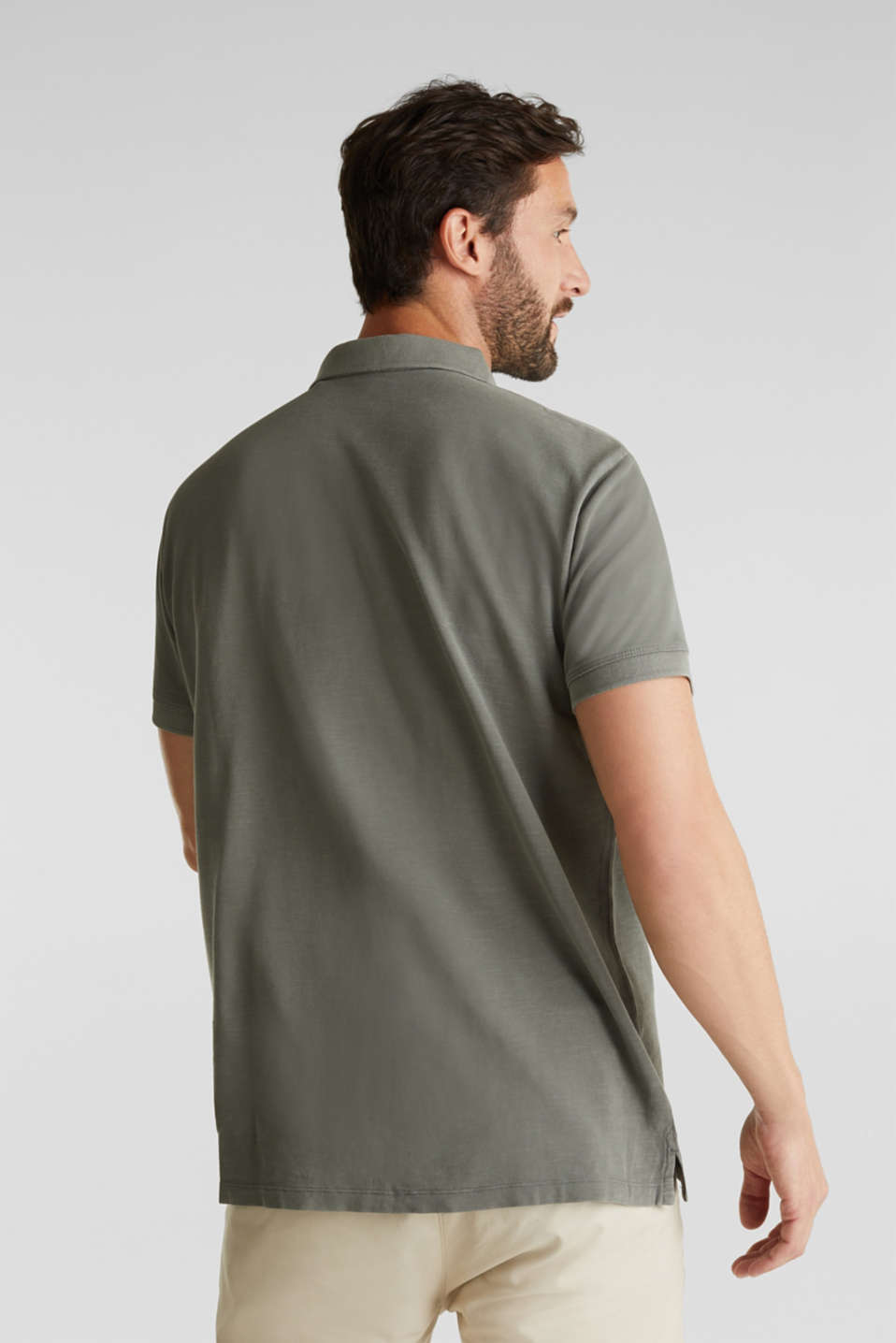 EarthColors®: piqué polo shirt, DARK KHAKI 2, detail image number 2