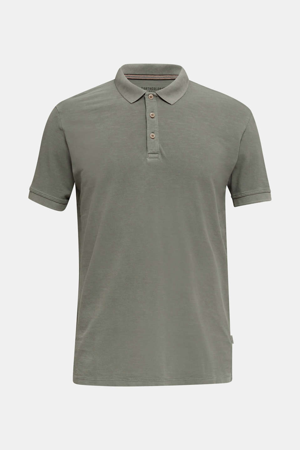 EarthColors®: piqué polo shirt, DARK KHAKI 2, detail image number 6