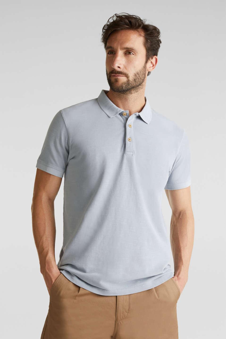 EarthColors®: piqué polo shirt, PASTEL BLUE 2, detail image number 0