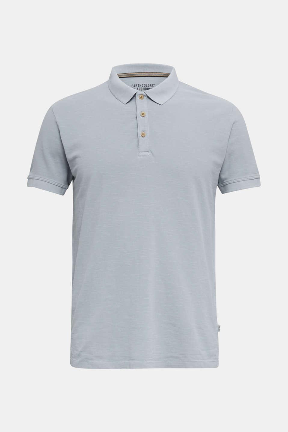 EarthColors®: piqué polo shirt, PASTEL BLUE 2, detail image number 6