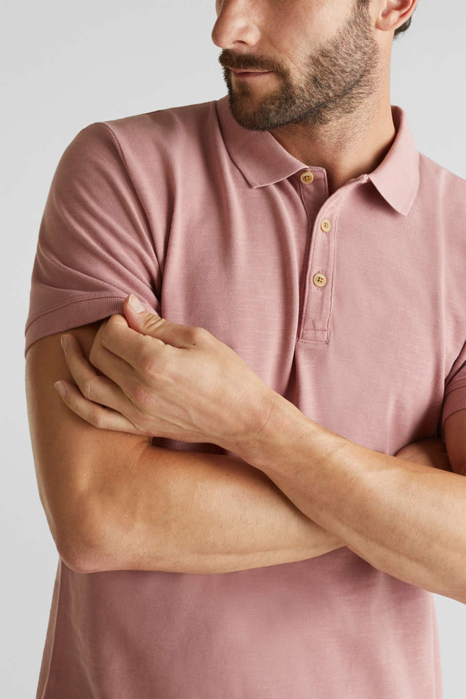 EarthColors®: piqué polo shirt, BLUSH, detail image number 1
