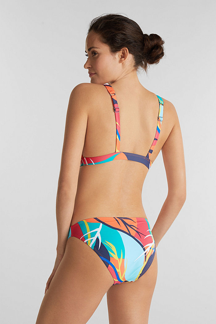 Briefs with a tropical print, RED ORANGE, detail image number 2