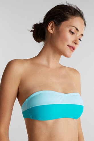 Padded top with detachable halterneck ties