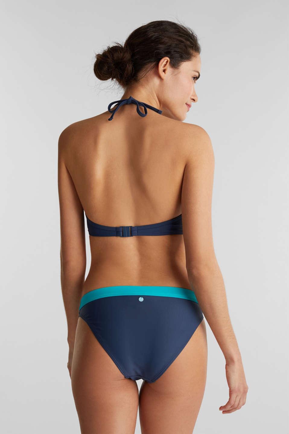 Padded halter neck bikini top, TURQUOISE, detail image number 1
