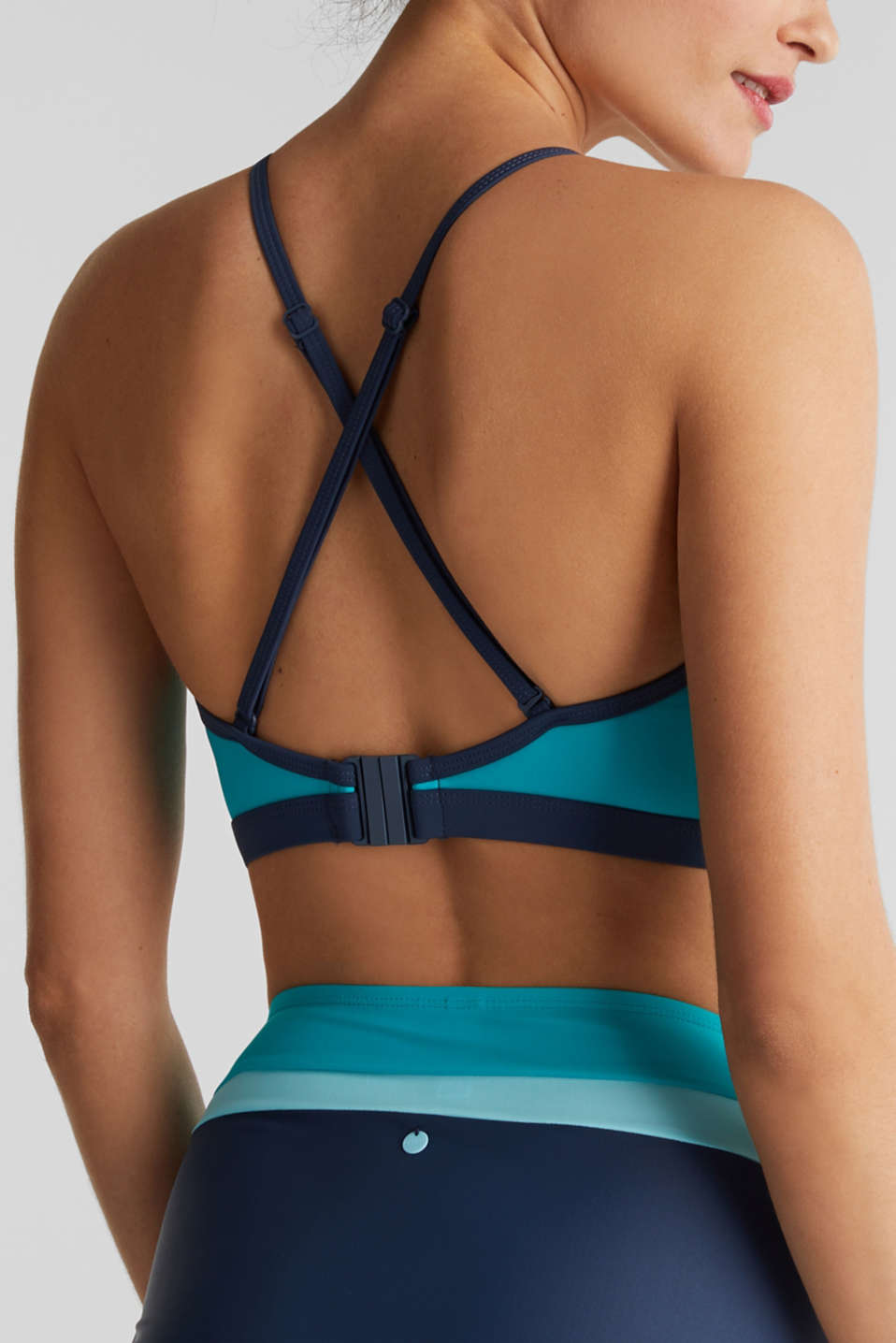 Non-wired bikini top, TURQUOISE, detail image number 3