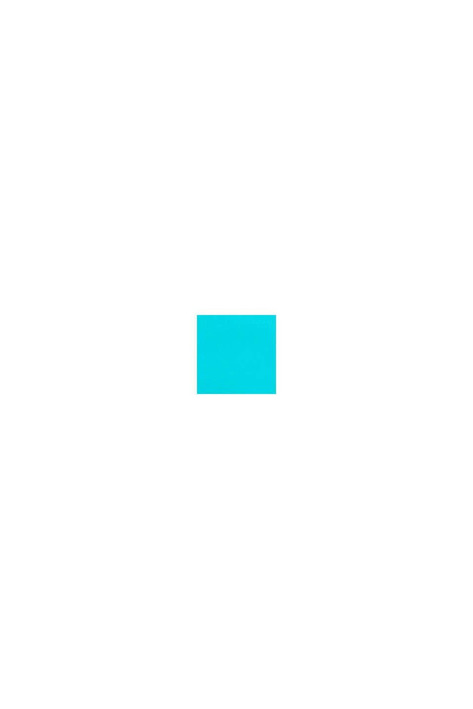 Vyztužený top s barevnými bloky, TURQUOISE, swatch