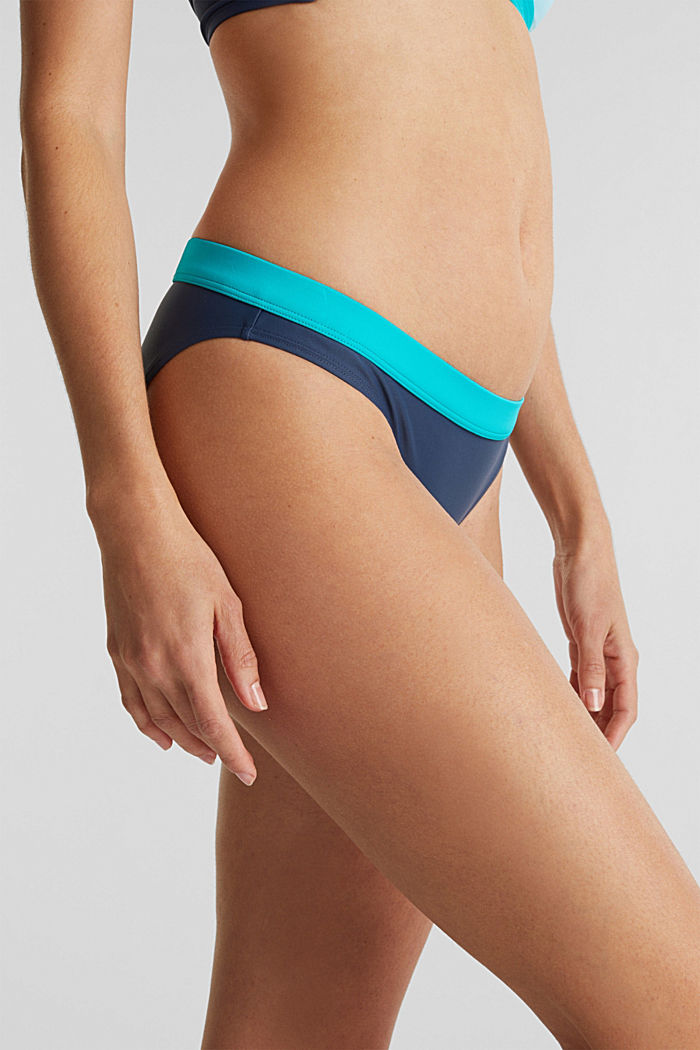 Briefs with a contrasting colour trim, TURQUOISE, detail image number 1