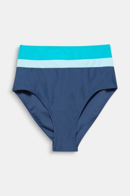 High-rise briefs with colour blocking, TURQUOISE, detail