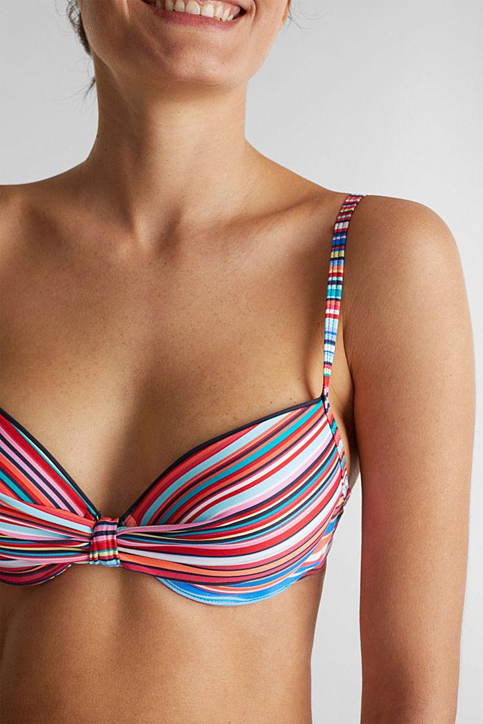 Padded push-up bikini top, NAVY, detail image number 2