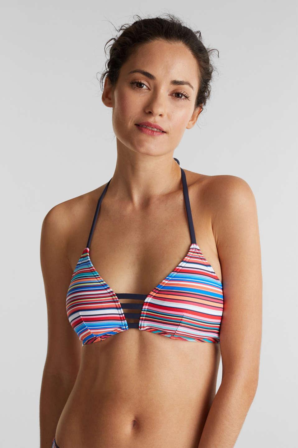 Padded halter neck bikini top, NAVY 2, detail image number 0
