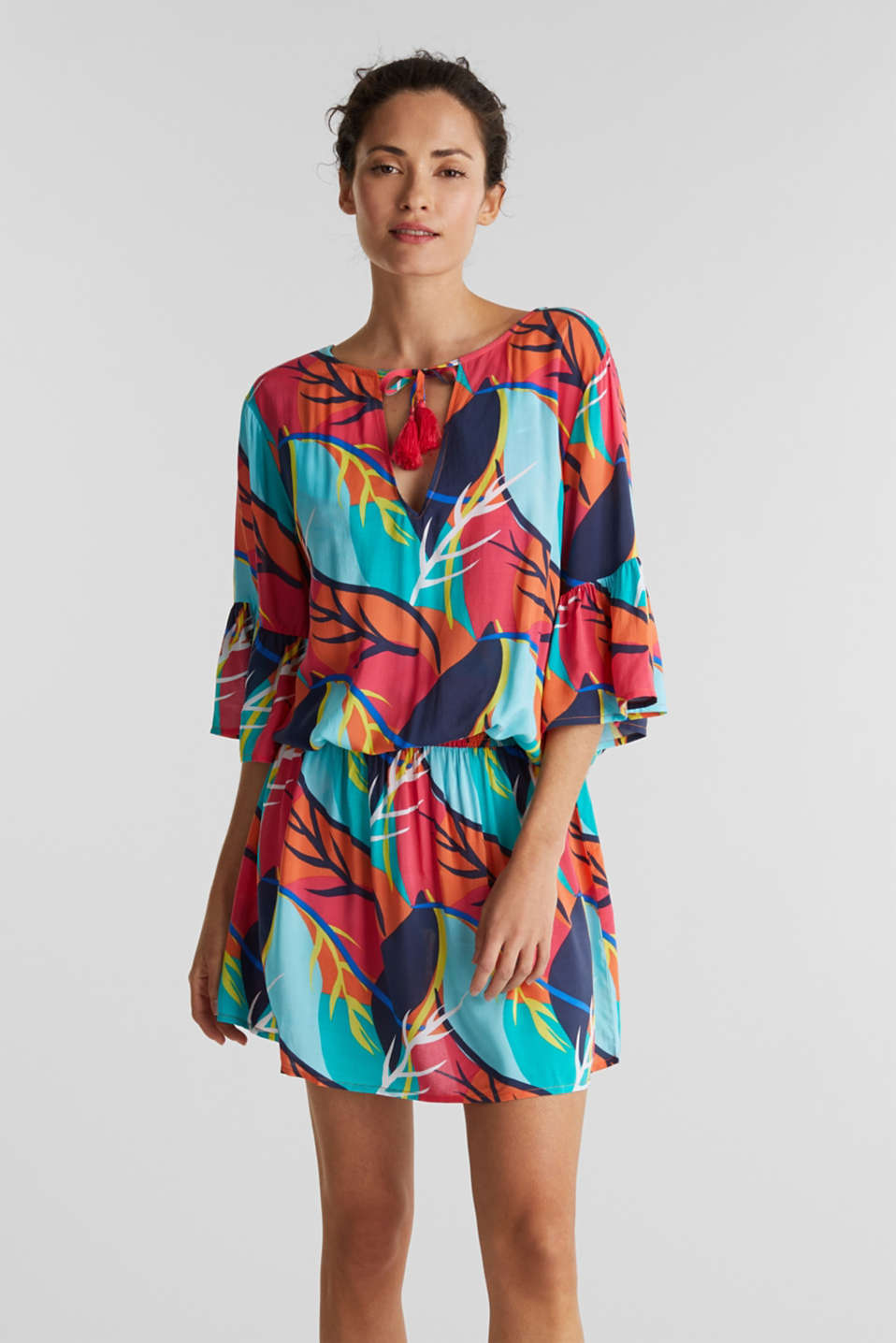Esprit - Tropical print beach dress