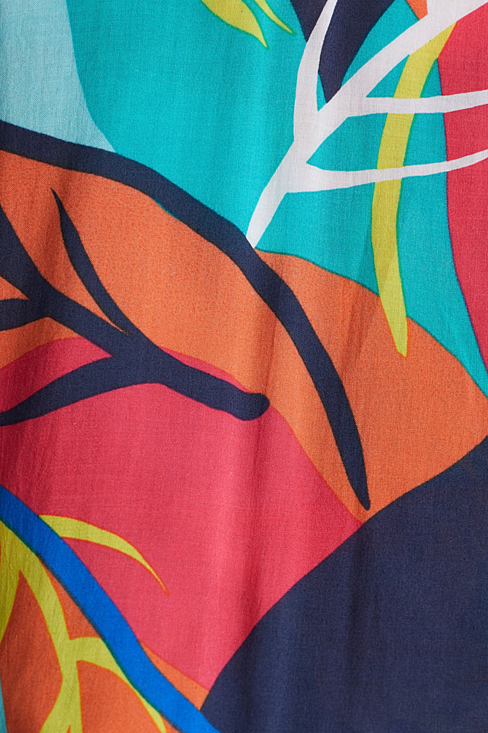 Tropical print beach dress, RED ORANGE, detail image number 3