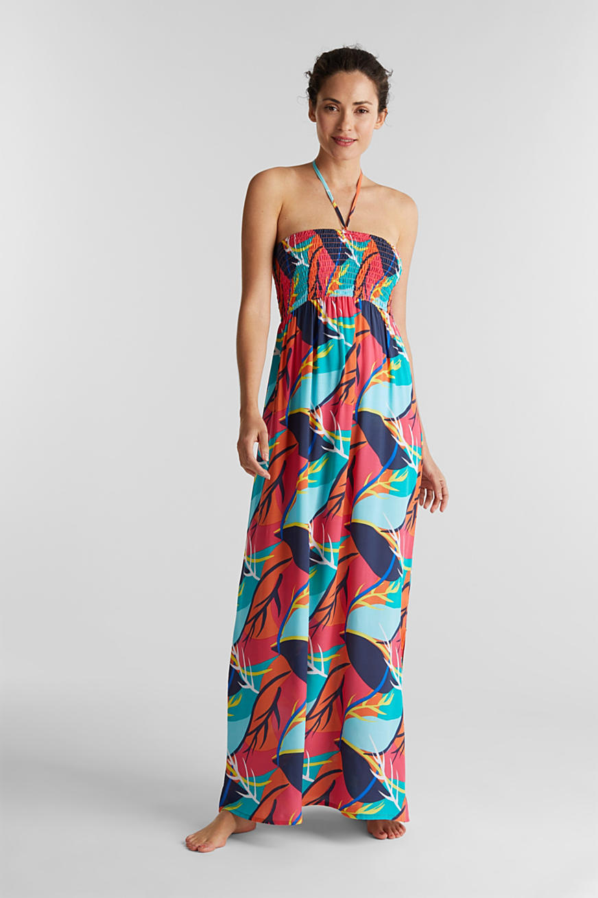Strandkleid mit Tropical-Print