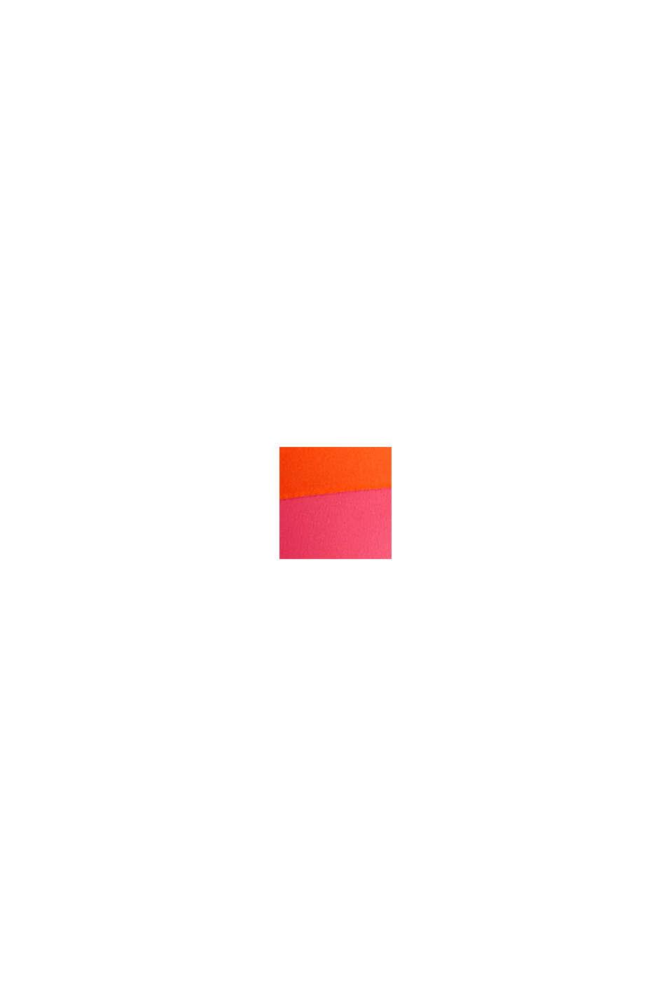 Wattiertes Top mit abnehmbarem Neckholder, BERRY RED, swatch