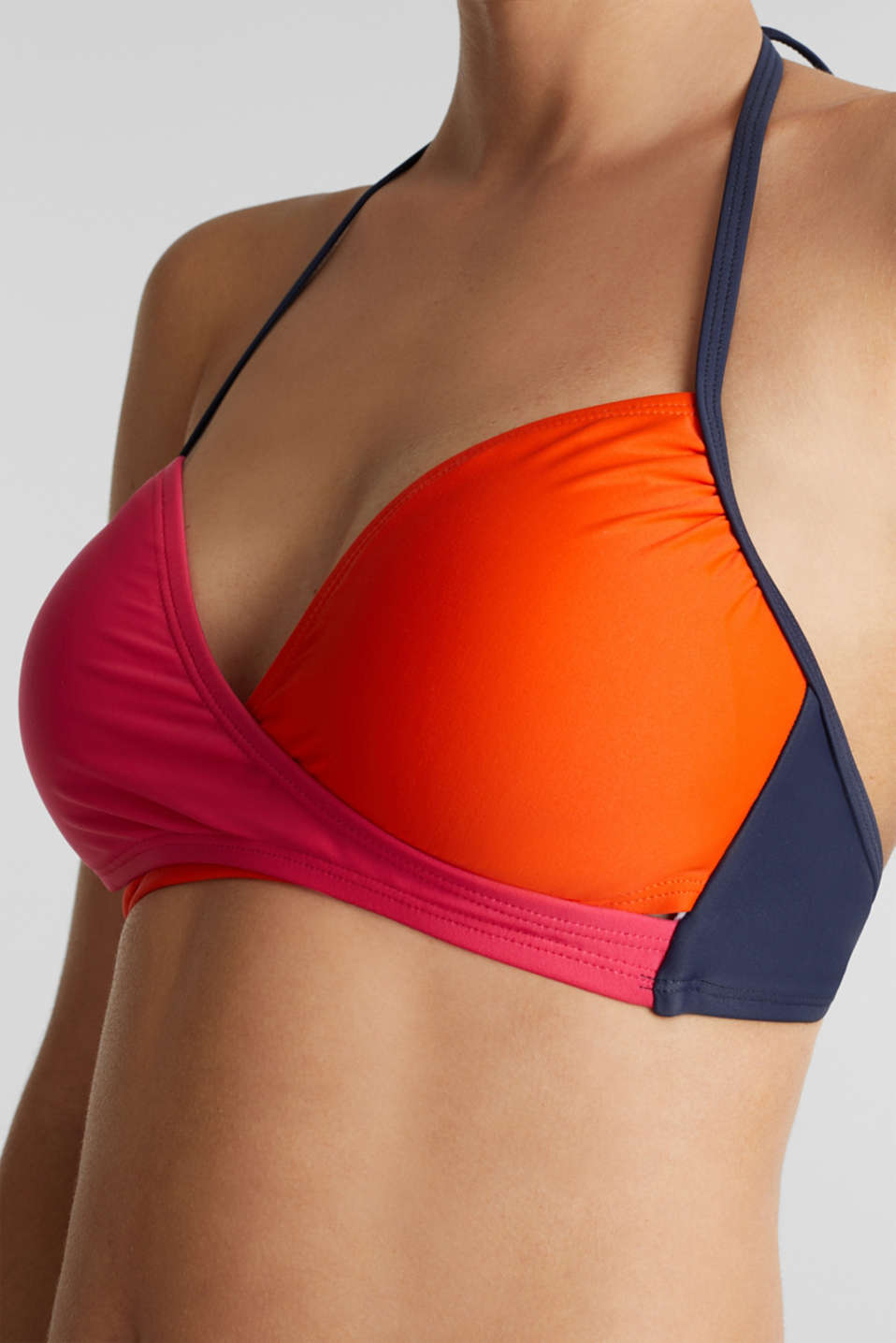 Wireless padded bra, BERRY RED, detail image number 2