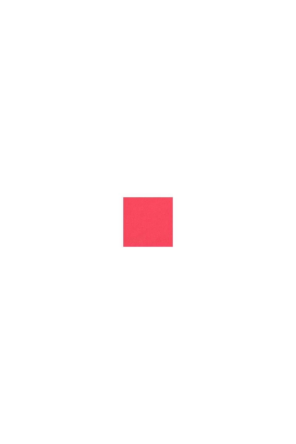 Bustier con relleno y diseño de bloques de color, BERRY RED, swatch