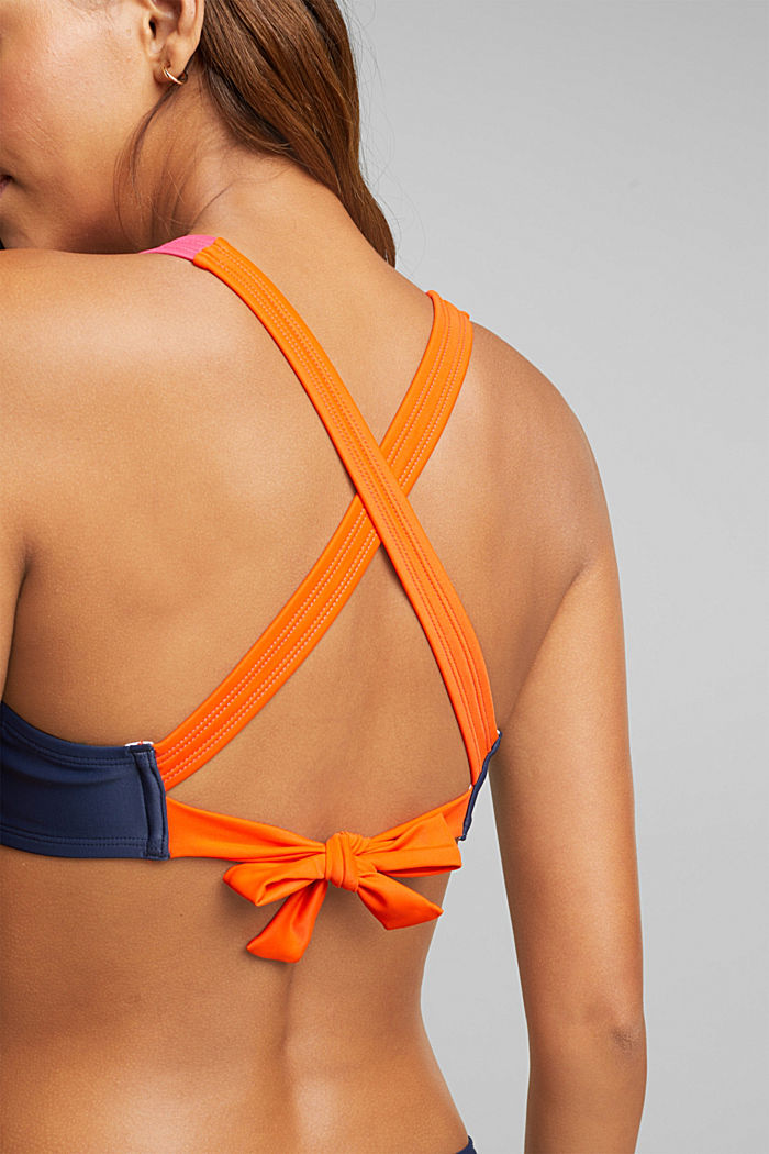 Padded colour block top, BERRY RED, detail image number 3
