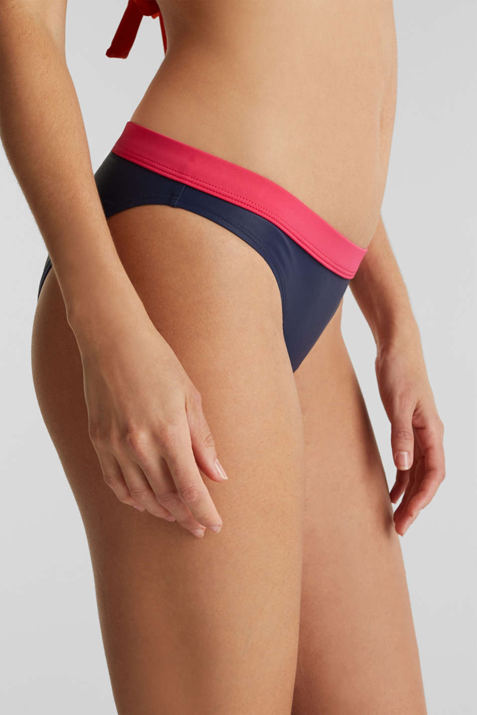 Mini briefs with contrast trim, BERRY RED, detail image number 1