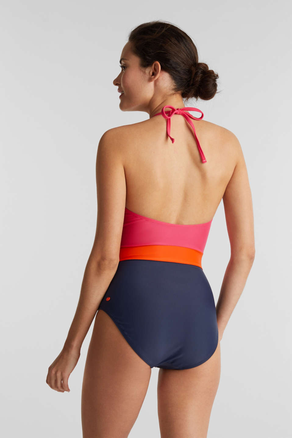 Swimsuit, BERRY RED, detail image number 1