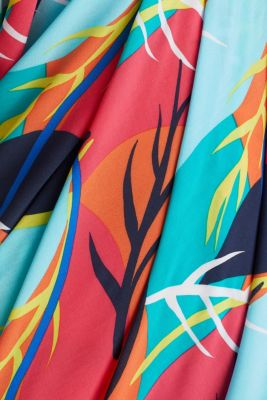 Sarong with a tropical print, RED ORANGE, detail