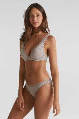 Hipster briefs with a burnt-out pattern, TAUPE, detail