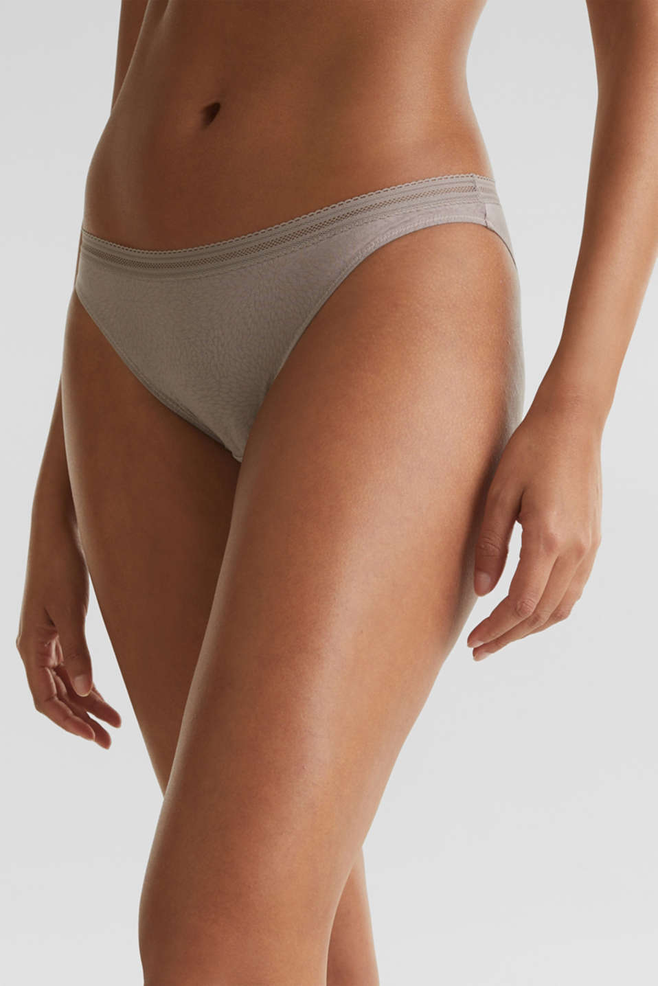 Hipster briefs with a burnt-out pattern, TAUPE, detail image number 1